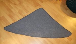Tuch vor dem Spannen