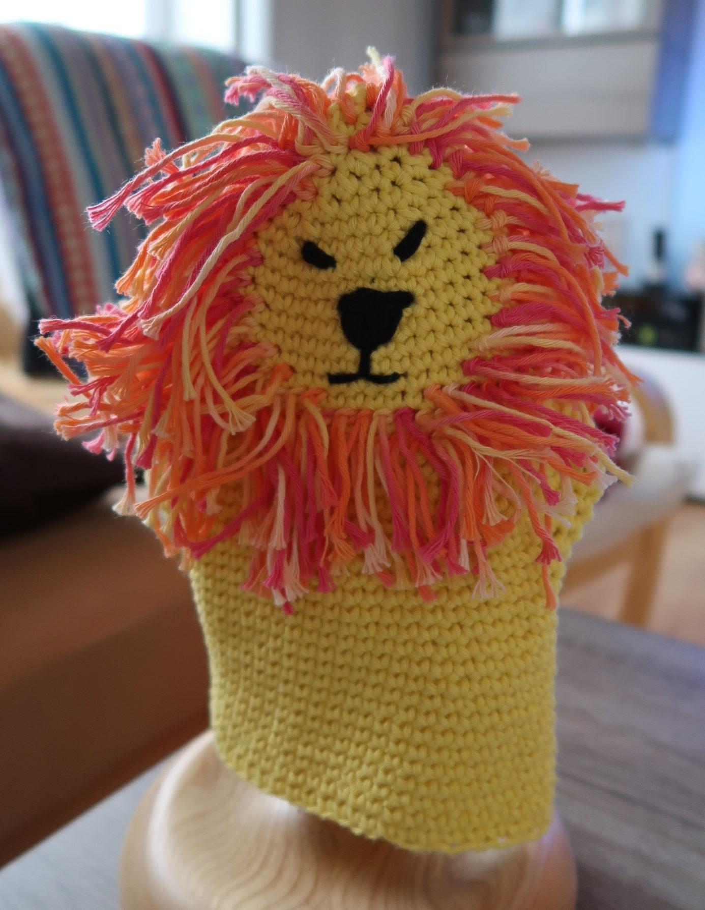 Wir häkeln einen Löwen-Waschlappen - MissKnitness
