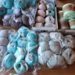 Wolle-Vorrat