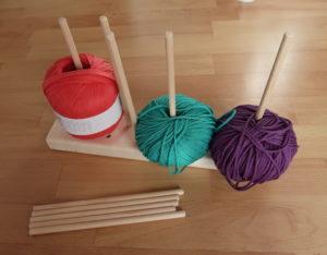 Wolle-Halterung basteln