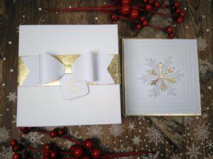 Weihnachtskarte und Verpackung