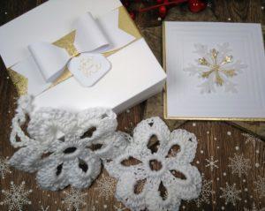 Weihnachtskarte und Sterne