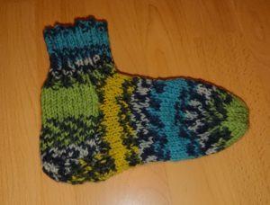 Erste Socke