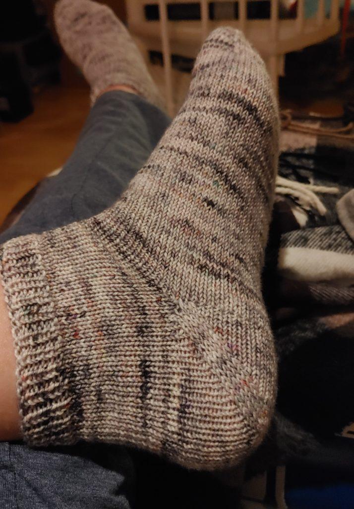 Socke ohne Löcher