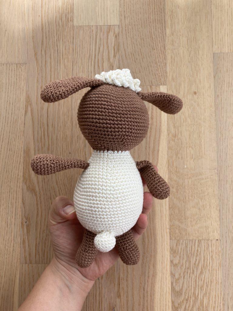 Schaf von hinten